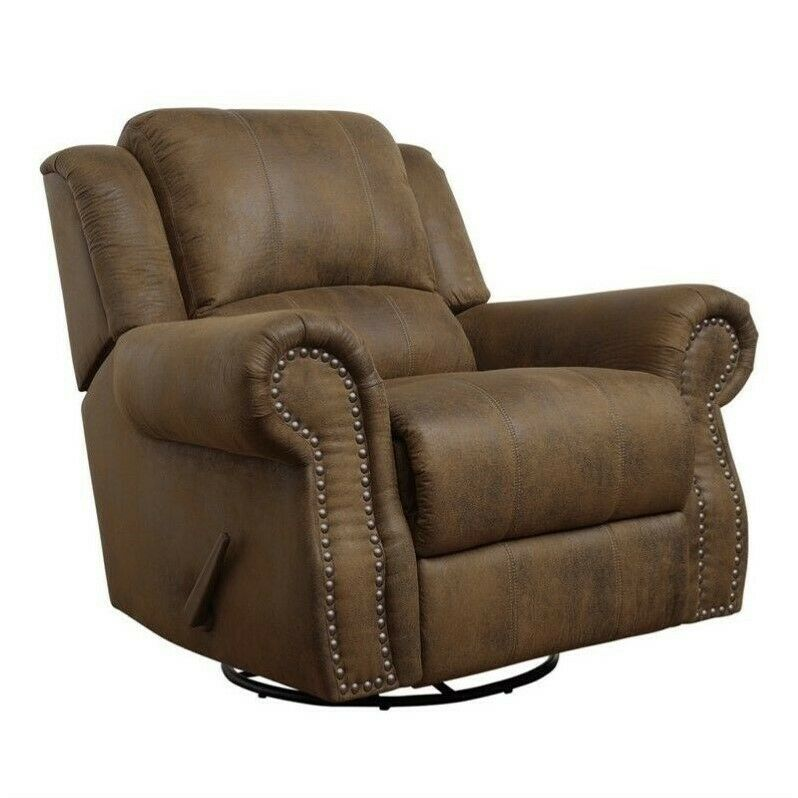 reclining swivel chairs for living room coaster rawlinson microfiber swivel recliner recliners in 26475