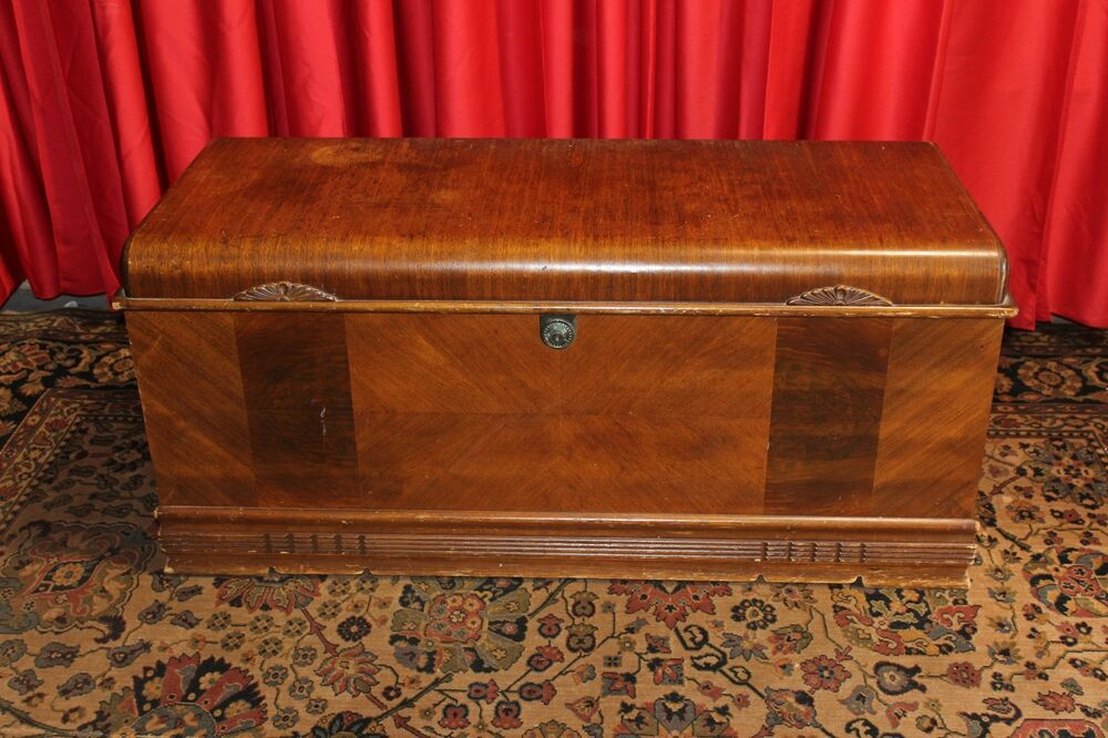 Vintage Antique Art Deco Cedar Chest Trunk Ebay