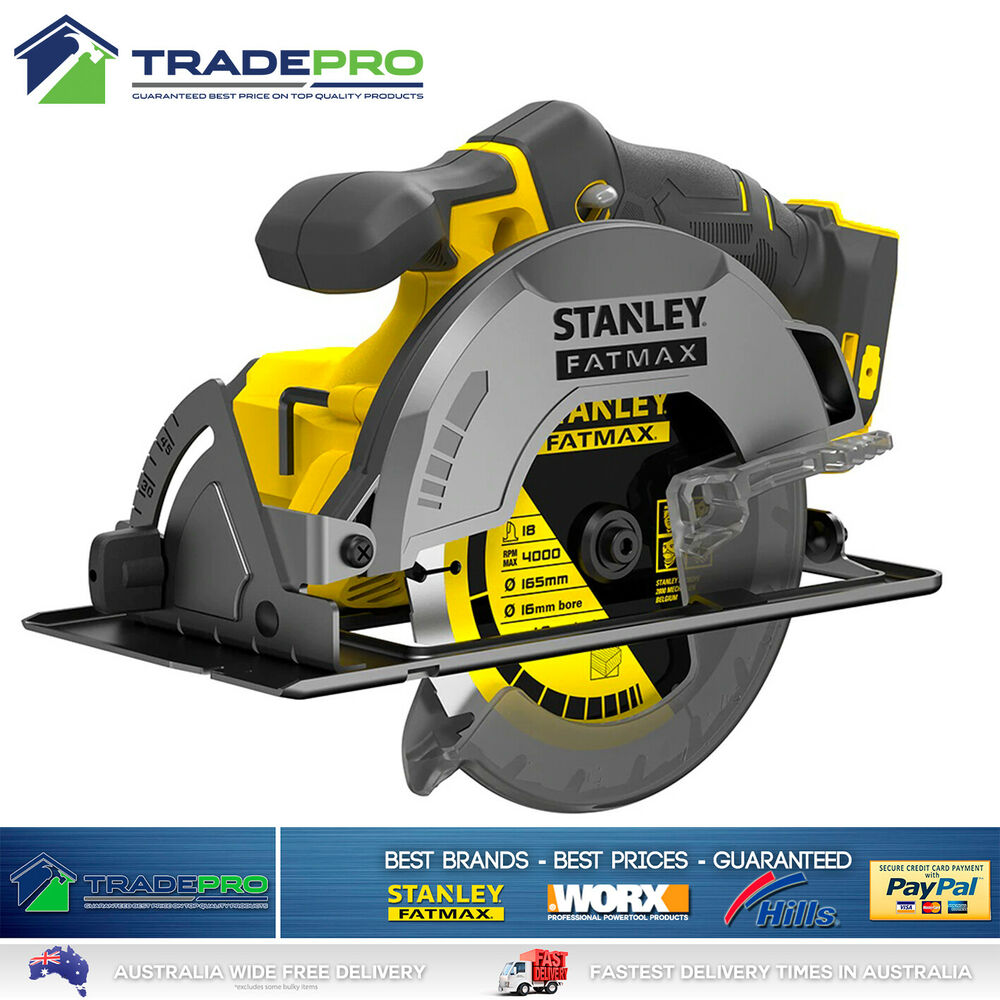 stanley fatmax 18v cordless circular saw genuine fmc660b xe pro tool only ebay. Black Bedroom Furniture Sets. Home Design Ideas