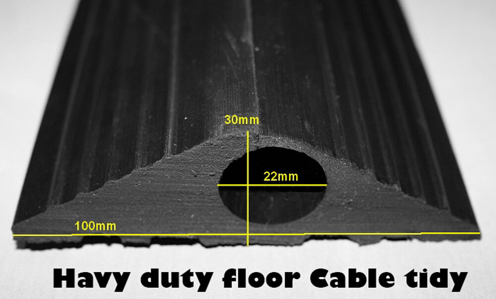 cable protector heavy duty rubber safety floor trucking cover wire lead 1 5 m ebay. Black Bedroom Furniture Sets. Home Design Ideas