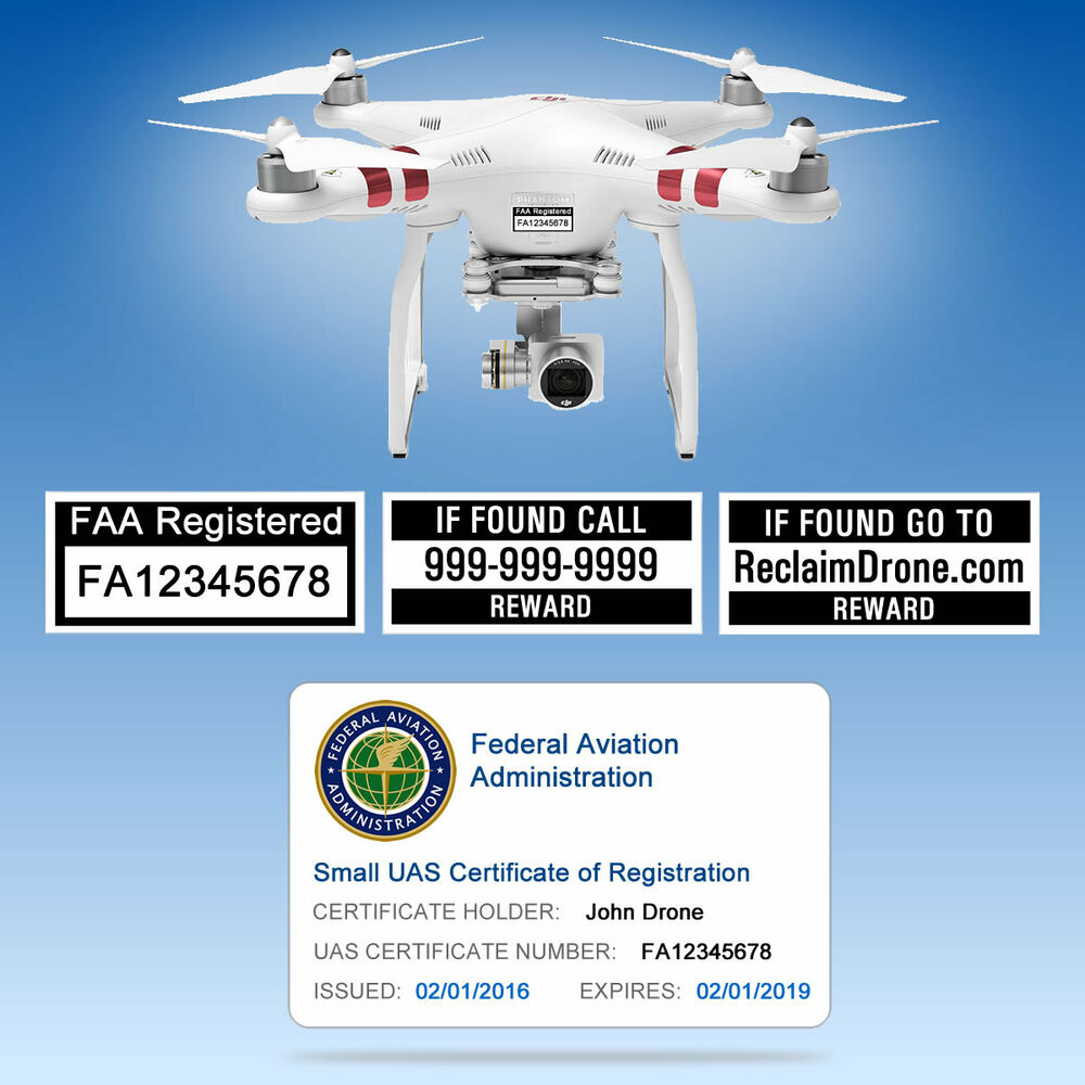 Drone faa uas certificate of registration id card label set drone faa uas certificate of registration id card label set hobbyist pilot ebay xflitez Images