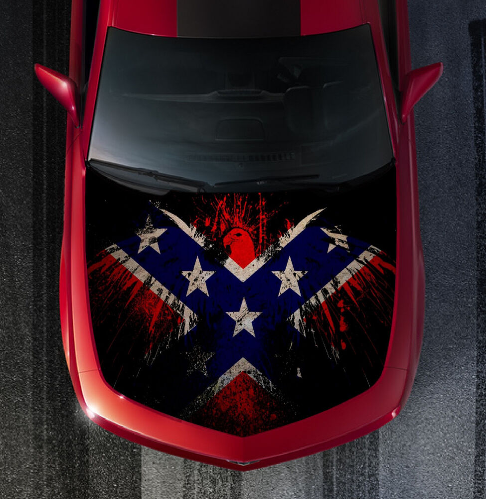 Sh50 Flag Eagle Hood Wrap Wraps Decal Sticker Tint Vinyl
