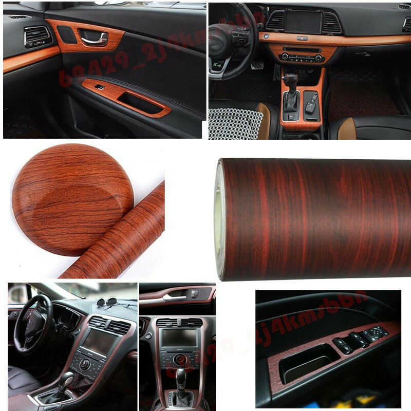 car suv mpv rv wood grain textured pvc vinyl wrap decorative sticker decal film ebay. Black Bedroom Furniture Sets. Home Design Ideas