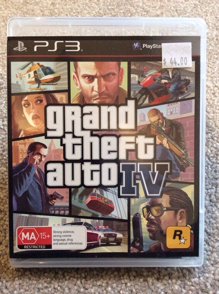 grand theft auto iv 4 gta ps3 game sony brand new not. Black Bedroom Furniture Sets. Home Design Ideas