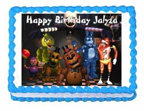 Five nights at Freddy's edible Icing image cake topper for ...