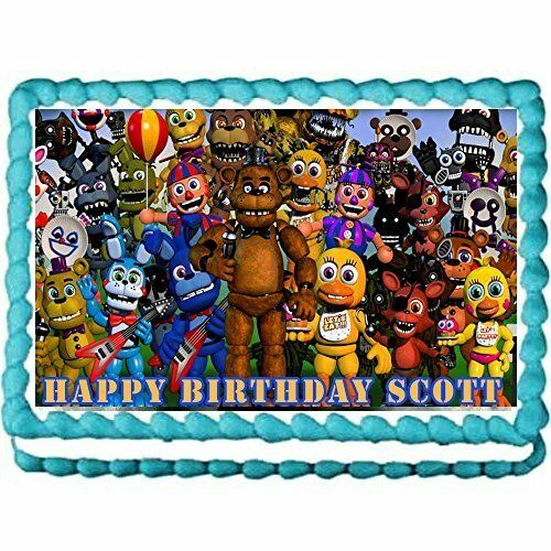 Five nights at Freddy's edible Icinge image cake topper ...
