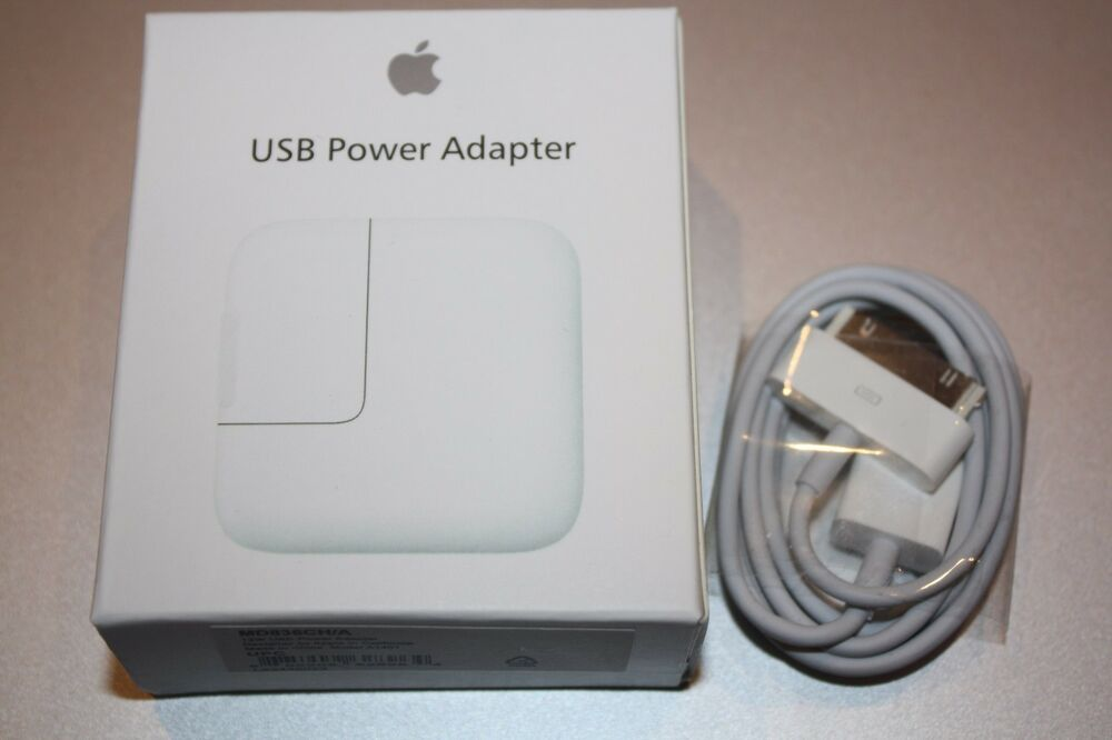 Genuine Original Apple 12w Usb Wall Charger W 30pin Cable