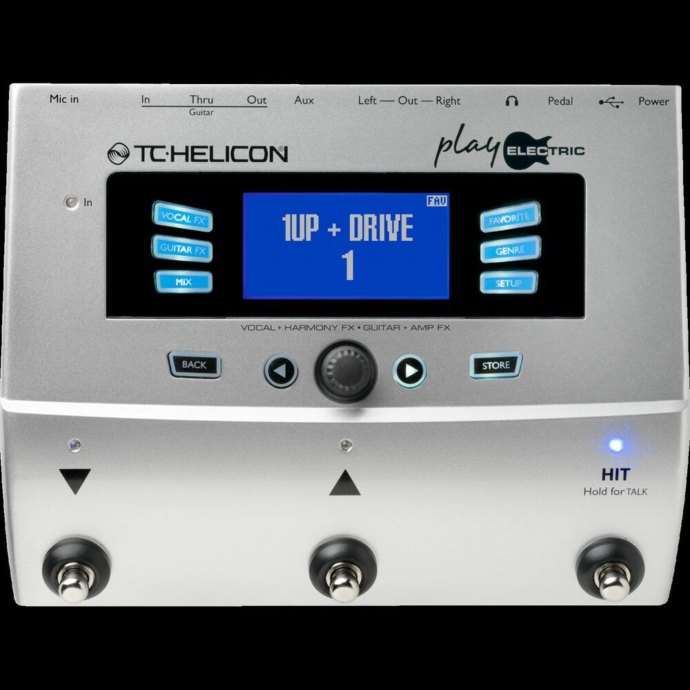 tc helicon play electric guitar vocal effects processor ebay. Black Bedroom Furniture Sets. Home Design Ideas