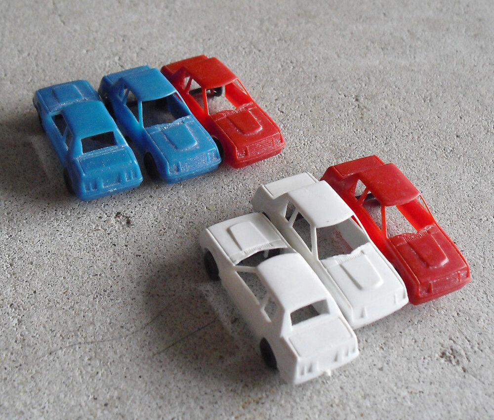 Lot Of 6 Vintage 1970s HO Scale Tyco Plastic Cars LOOK