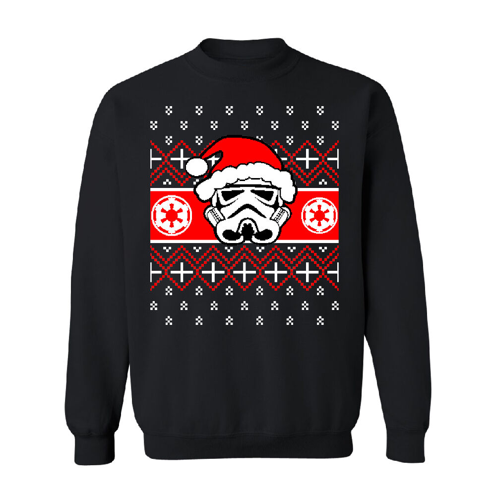 santa darth vader star wars unisex crewneck christmas ugly sweater sweatshirt ebay. Black Bedroom Furniture Sets. Home Design Ideas
