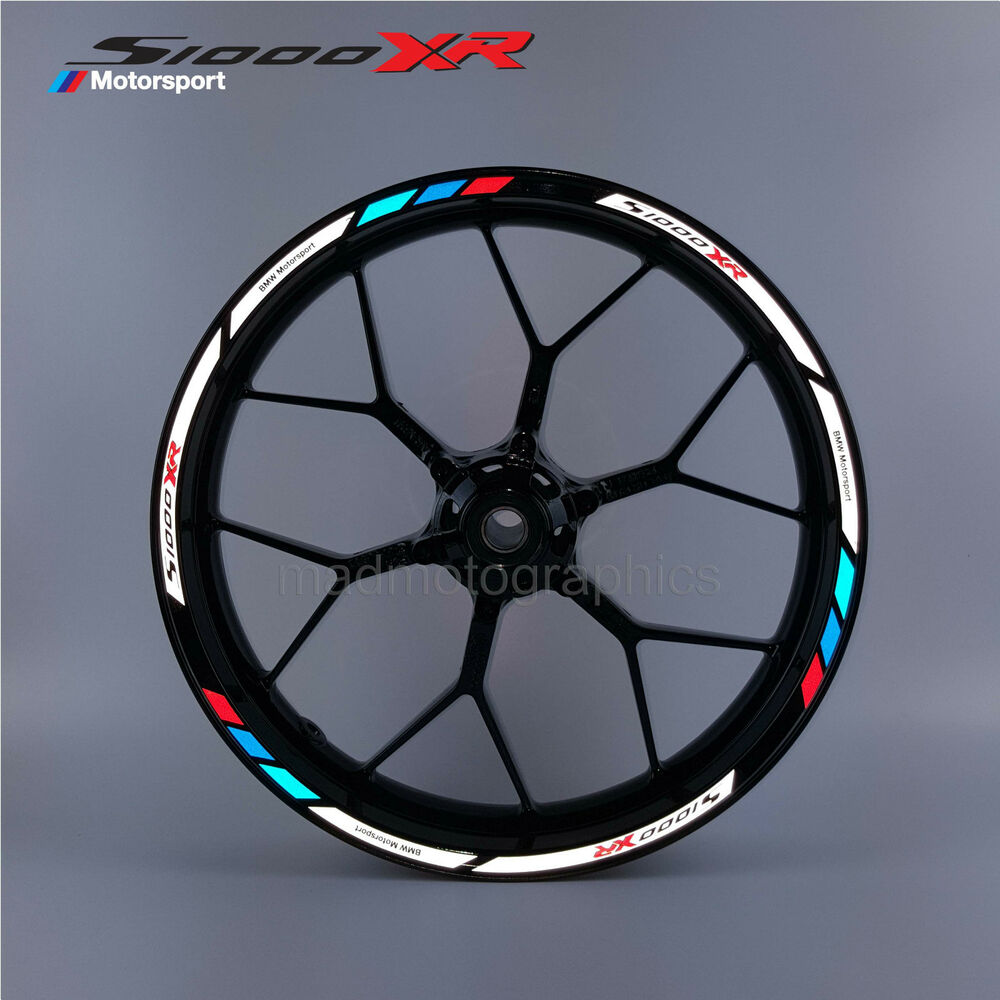 s1000xr motorcycle reflective wheel stickers decals rim. Black Bedroom Furniture Sets. Home Design Ideas