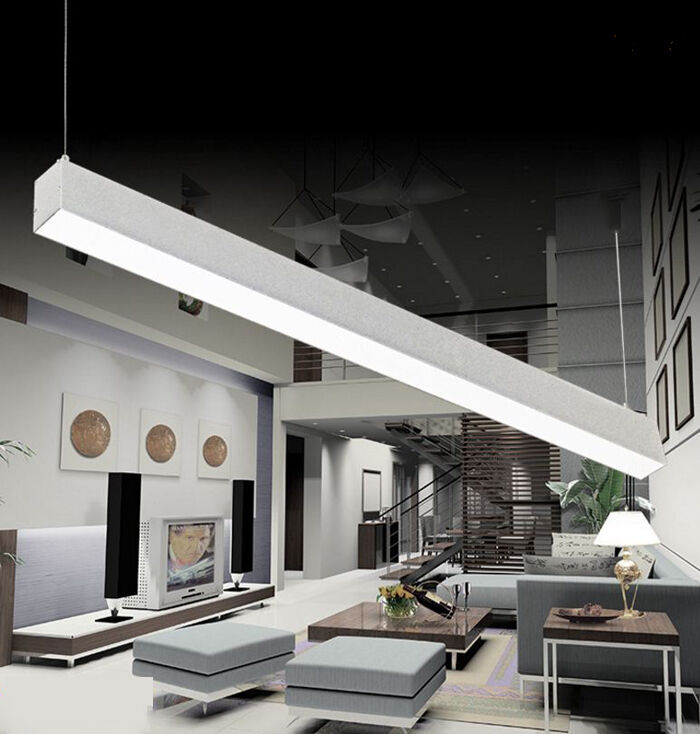 50W LED Shop Pendant Light Fixture Strip Linear Ceiling