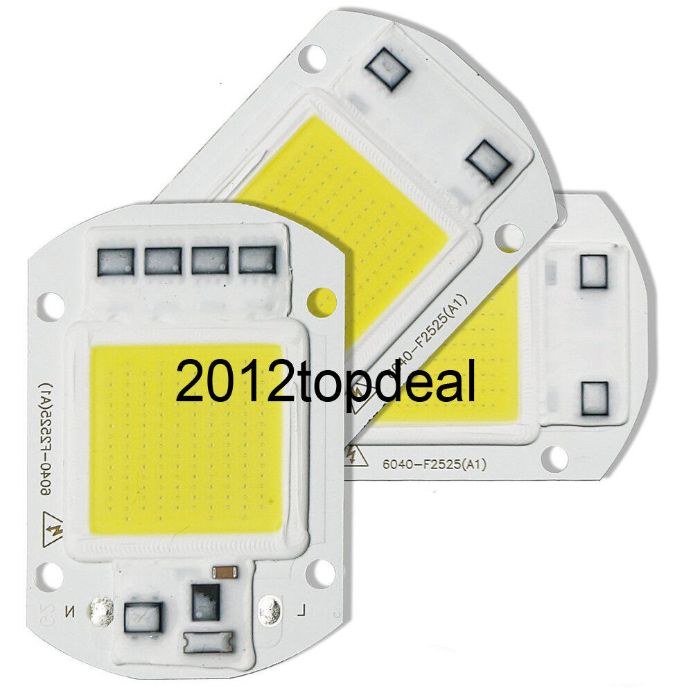 20W 30W 50W LED Floodlight COB Chip 110V 220V Input Integrated Smart IC Driver : eBay