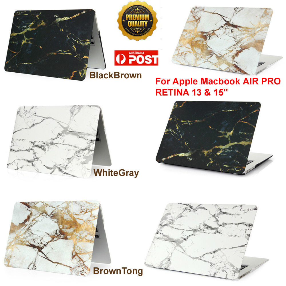 New Marble Rubberized Hard Case Cover For Apple Macbook