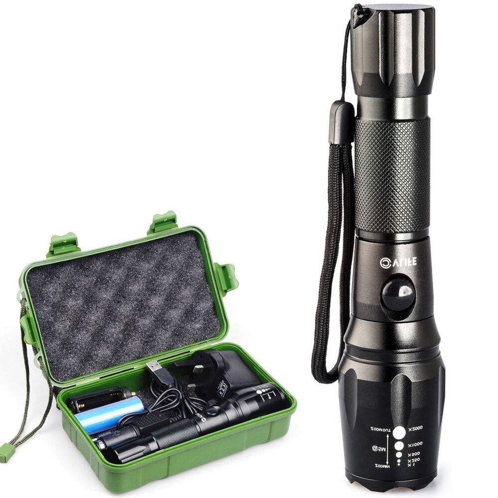 Long-Range-LED-Torch-High-Power-Rechargeable-Flashlight ...