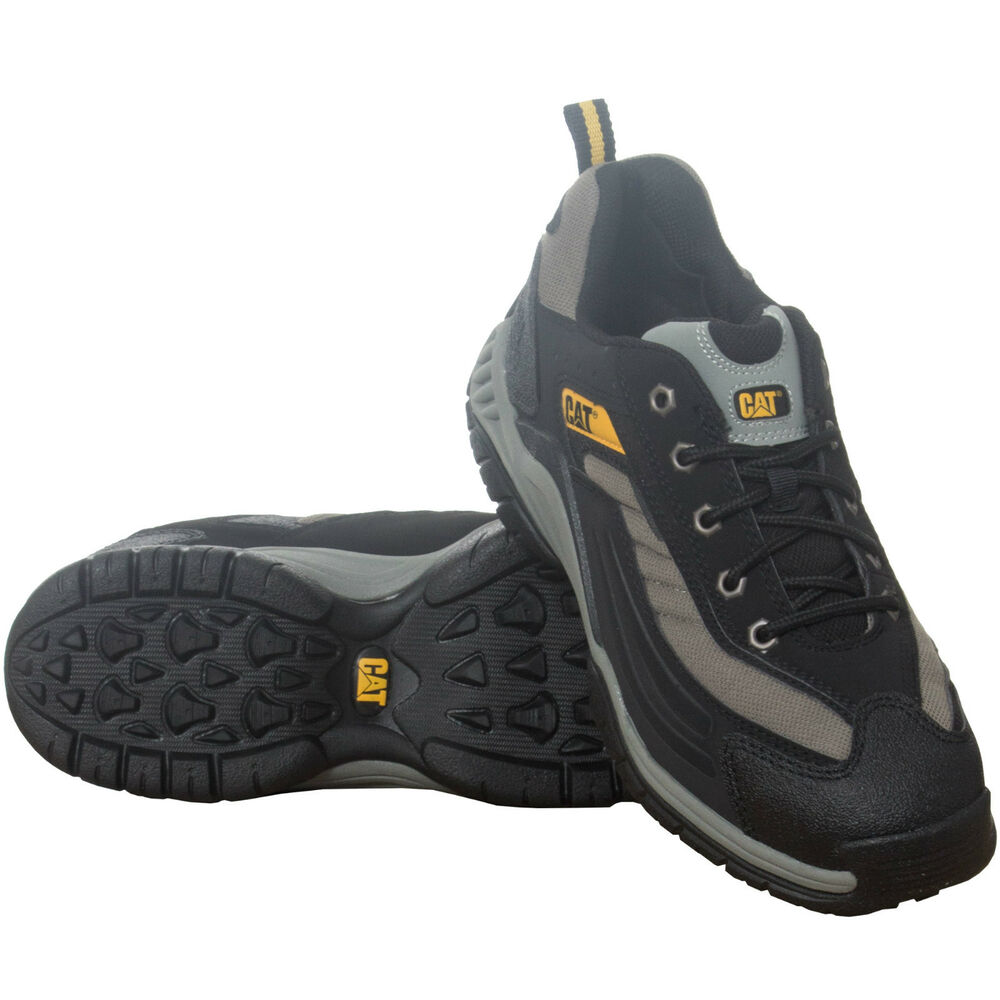 Mens Cat Caterpillar Moor Black Leather Safety Boots ...