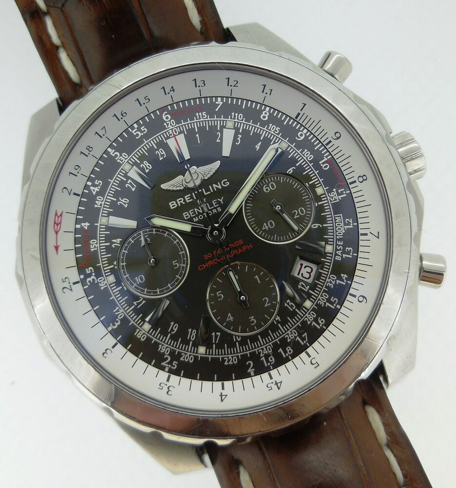 Breitling Bentley Motors T Automatic Chronograph Gray Dial