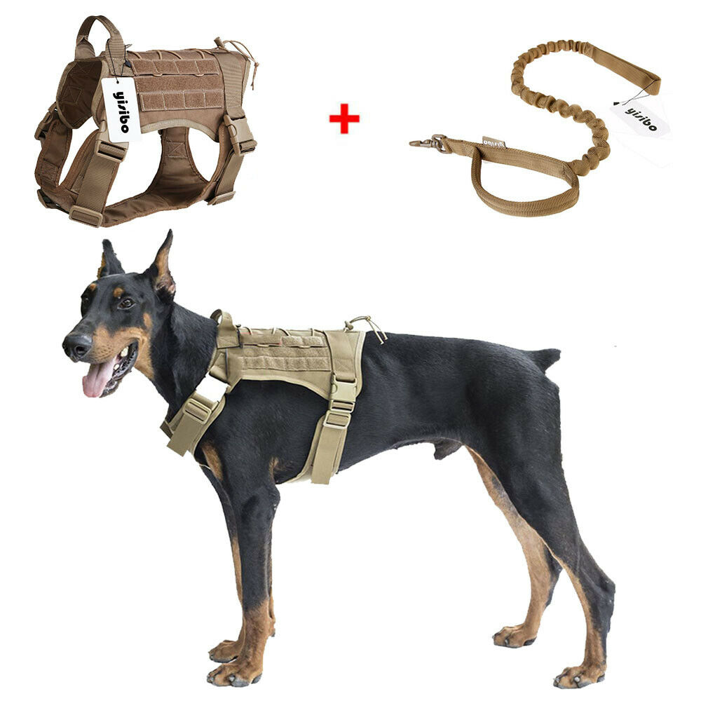 Tactical Molle Chest Plate Dog Harness Adjustable Puppy