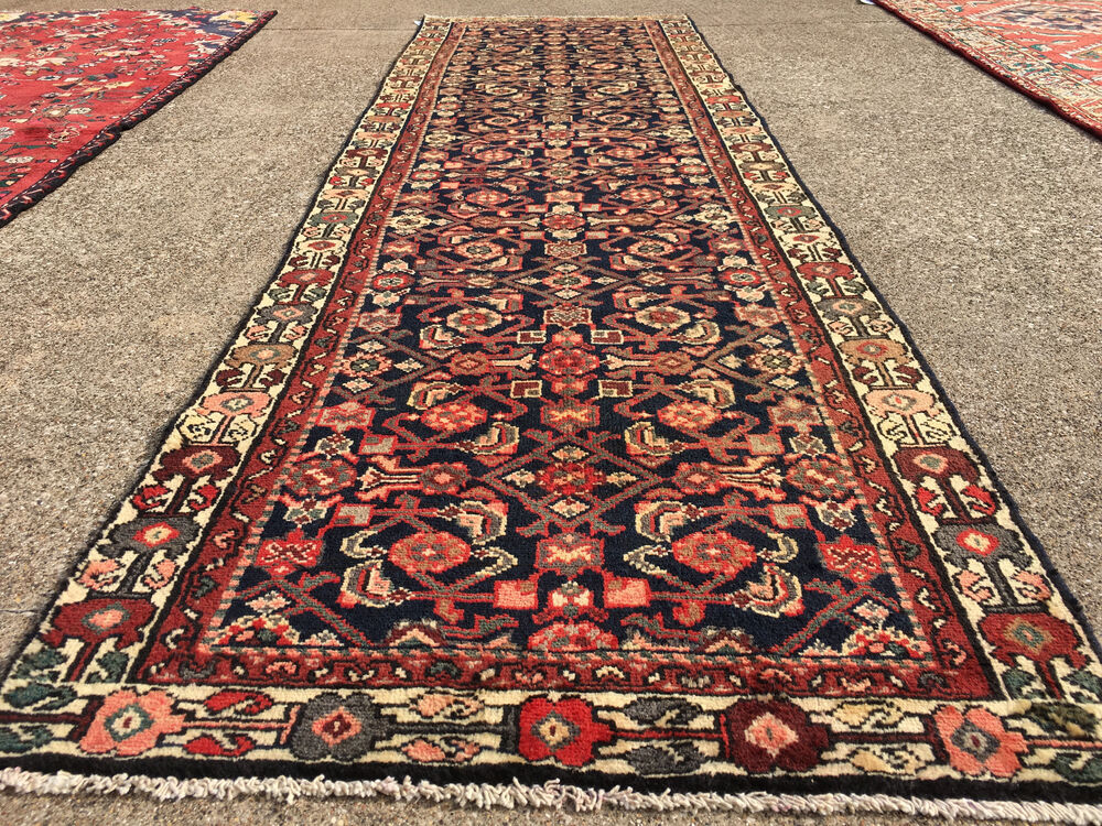 3x10 Hand Knotted Persian Iran Rug Runner Woven Wool