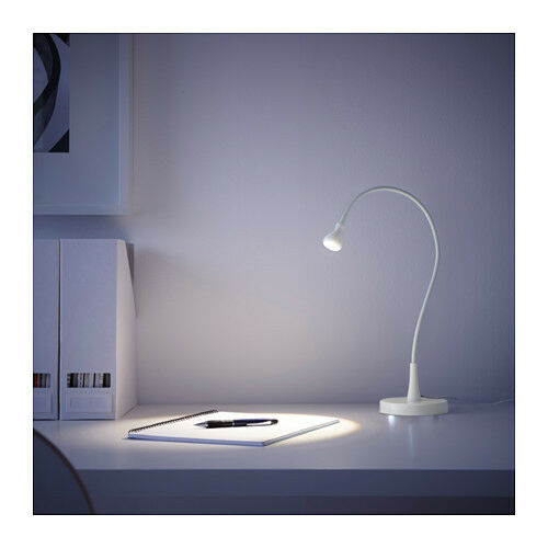 ikea jansjo flexible white color desk table study led goose neck lamp ebay. Black Bedroom Furniture Sets. Home Design Ideas