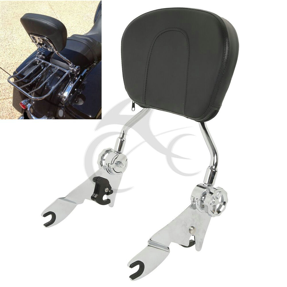 Detachable Backrest Sissy Bar Pad For Harley Road King