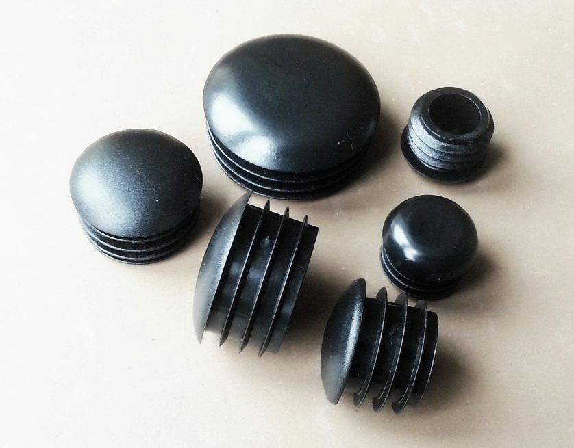 Round end caps half dome plastic blanking plugs pipe tube