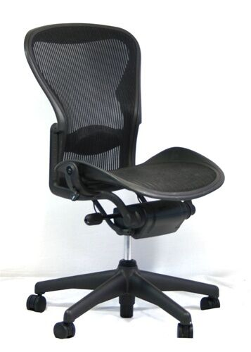 Herman Miller Aeron Mesh Office Desk Chair No Arms Size B
