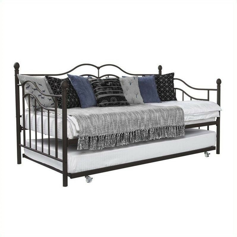 Dhp The Tokyo Metal Frame Daybed And Trundle In Twin In