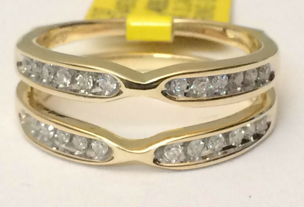 Solitaire Enhancer Diamonds Ring Guard Jacket Wrap 14k