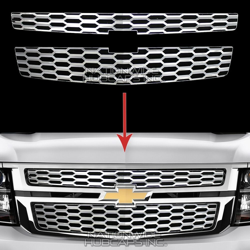 2015-18 Chevy Tahoe Suburban CHROME Snap On Grille ...