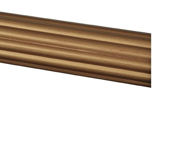 Drapery Curtain Fluted Wood Rod 8 Foot 2 Inch Diameter 5 Colors Ebay