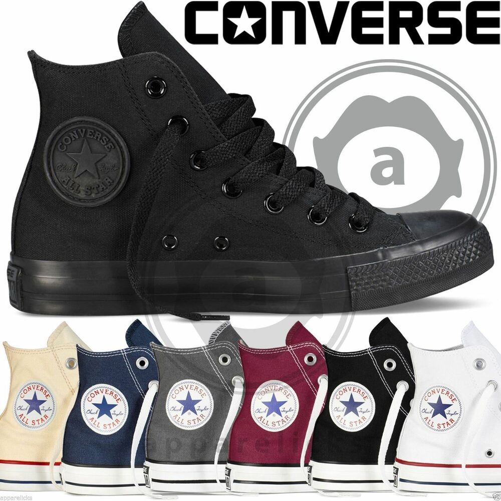 0db26dbbde2 Details about Converse All Star Hi Tops Mens Womens Unisex High Tops Chuck  Taylor Trainers