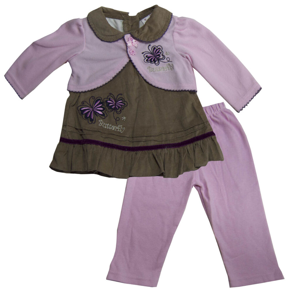 New Baby Girls Outfit Clothes 2 pc set Shirt legging Size ...