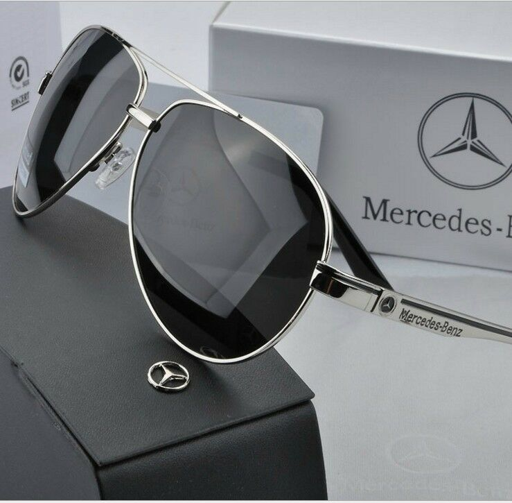 mercedes quality aviator men polarized sunglasses