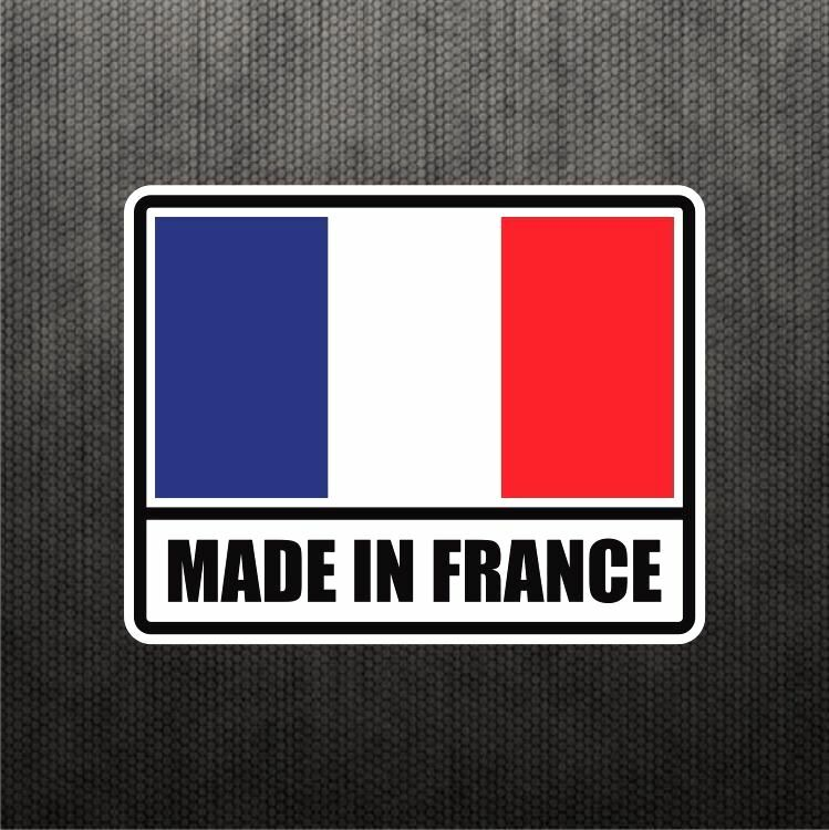 made in france flag sticker vinyl decal french car sticker. Black Bedroom Furniture Sets. Home Design Ideas