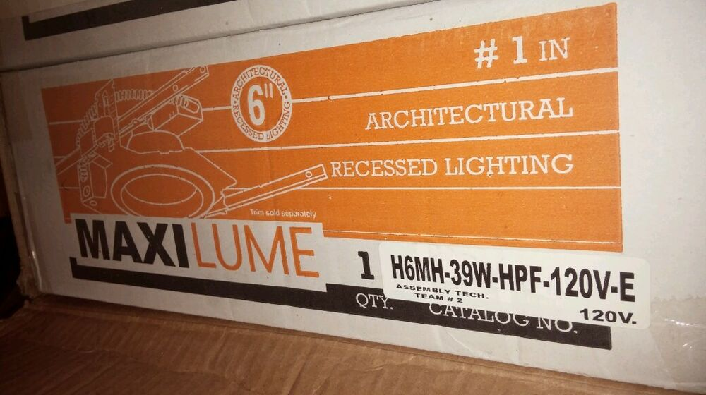 & MaxiLume H6MH-39W-HPF-120V-E RECESSED LIGHTING | eBay