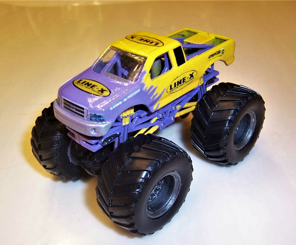 line x obsession custom built hot wheels monster jam truck monster truck 1 64 ebay. Black Bedroom Furniture Sets. Home Design Ideas