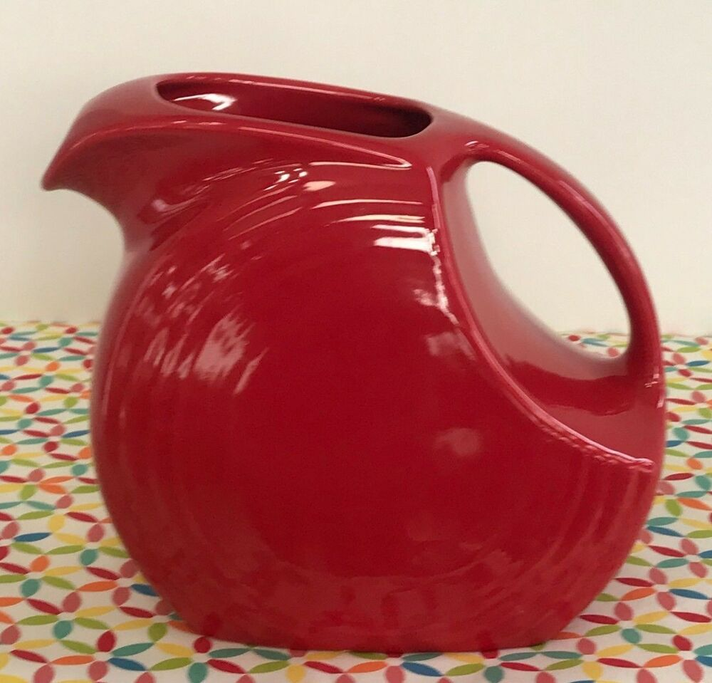 Fiestaware Scarlet Large Disc Pitcher Hlc Fiesta Water