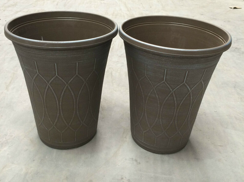 4 x extra large giant tall planter 15 grey blue silver Extra large pots for plants