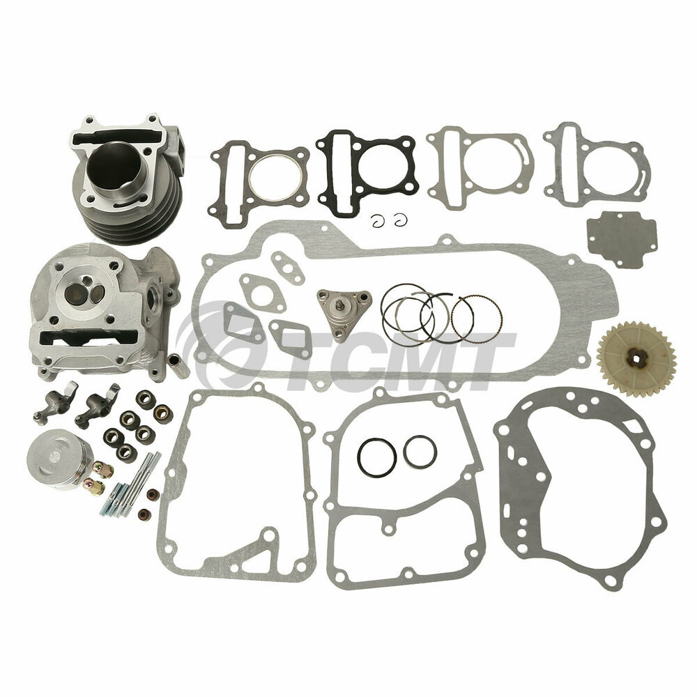 100cc scooter engine big bore 50mm cylinder bore kit for. Black Bedroom Furniture Sets. Home Design Ideas