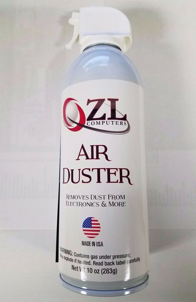 1 10oz can zl computers canned air compressed air duster with straw ebay. Black Bedroom Furniture Sets. Home Design Ideas