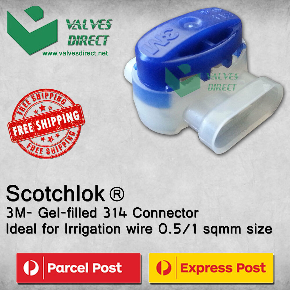 Qty 10/20/30 Scotchlok® 3M- Gel-filled 314 Connector for 2/3 wires ...