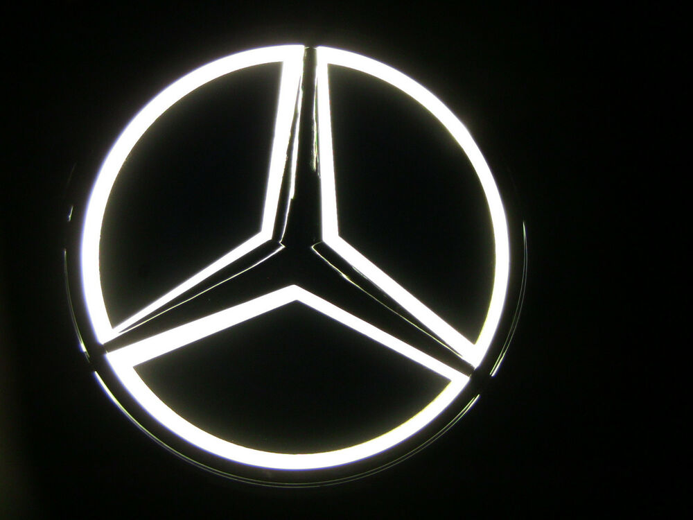 White universal replica led illuminated star emblem for Mercedes benz symbol light