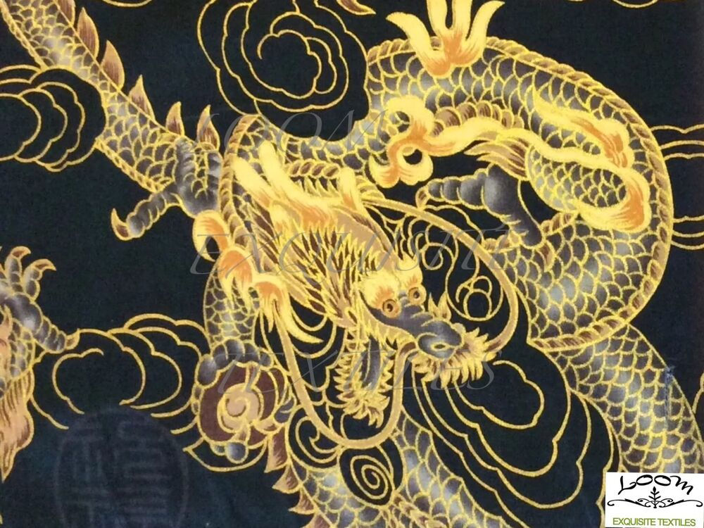 TP015 Asian Chinese Dragon Painting Gold Fire Cloud