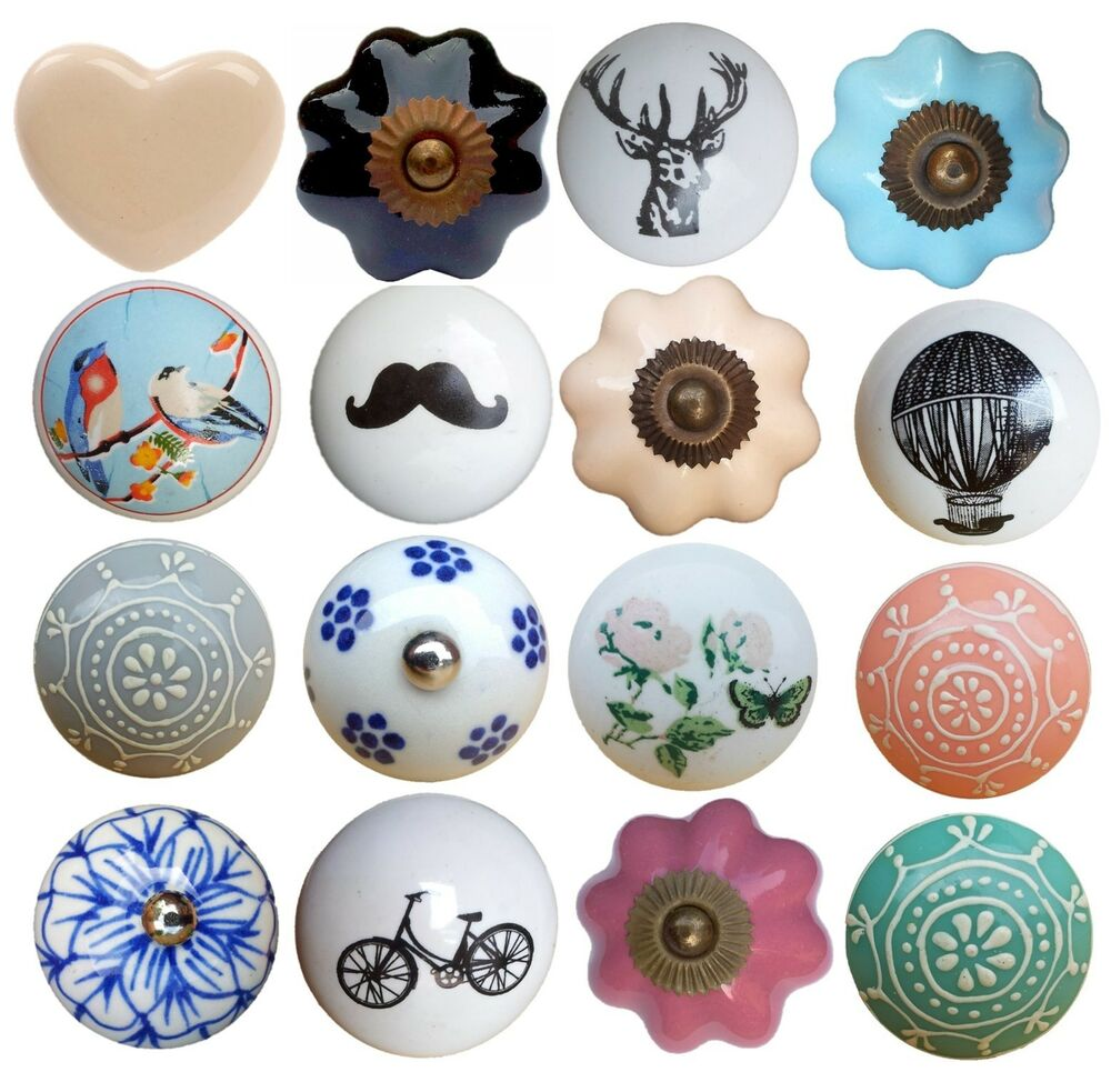 Ceramic Kitchen Cabinet Handles Drawer Pull Knobs Antique: Vintage Style Ceramic Drawer Knobs Pull Handle Door