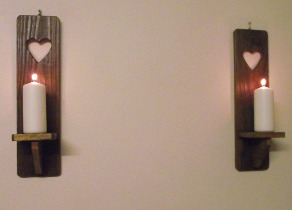 Hand Made Rustic Reclaimed Pallet Wood Wall Candle Holder ...