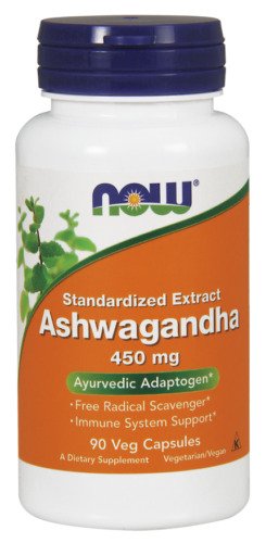 Ashwagandha (450mg) - 90 Veg caps - NOW Foods