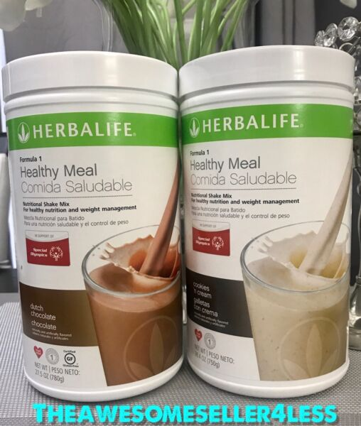 NEW 2X HERBALIFE FORMULA 1 HEALTHY MEAL SHAKE MIX (MULTI FLAVORS TO CHOOSE)