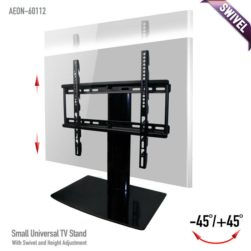 aeon universal tv stand w swivel and for 23 32 42 46 inch led lcd tvs ebay. Black Bedroom Furniture Sets. Home Design Ideas