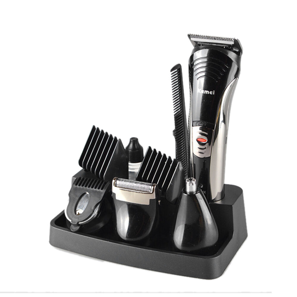 professional men 39 s electric shaver kemei 7 in 1 grooming kit new hair clipper ebay. Black Bedroom Furniture Sets. Home Design Ideas